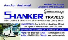 SHANKER TRAVELS | Kanpur | Lucknow Fleet Owners & Contractors of Air-Conditioned Luxury Buses
