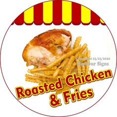 Chicken /& Fries Concession Restaurant Food Truck Die-Cut Vinyl Sticker