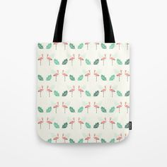 Pink Flamingo Seamless Tropical Pattern Tote Bag by diana_ioana Tropical Pattern, Tote Pattern, Paper Bags, Beach Look, Pink Flamingos, Poplin Fabric, Beach Towel, Diana, Stress