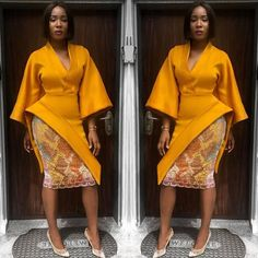 Like they say, you can never be too dressed for any occasion, and these are definitely the cross over looks you need in your wardrobe. African print fashion is Ankara Dress Styles, African Lace Dresses, African Fashion Dresses, Fashion Outfits, Fashion Women, African Inspired Fashion, African Print Fashion, Fashion Prints, African Prints
