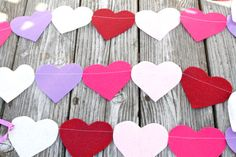 Awesome felt heart banner!!!