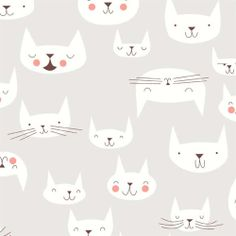 Catnap Cattitude fabric by Lizzie House - I would make my (fantasy) wedding dress out of this.