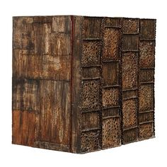 Custom Pierced-Front Wall-Hanging Cabinet by Paul Evans Studio, circa 1960s | From a unique collection of antique and modern cabinets at https://www.1stdibs.com/furniture/storage-case-pieces/cabinets/