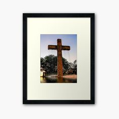'Water from the Cross' Framed Print by LeonKramer Protective Packaging, Centerpiece Decorations, Off Colour, Custom Boxes, Box Frames, Framed Art Prints, Print Design, My Arts, Printed