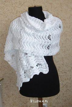 Delicadezas en crochet Gabriela: 30 =Patrones gratis bufandas y stolas en crochet y dos agujas