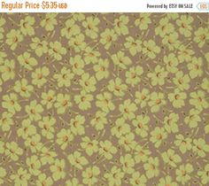ON SALE Gypsy Caravan Moss Daisy Floral Amy by LauriesFabricHouse