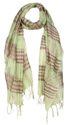 Plaid Open Weave Scarf