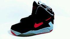 Nike Air Flight Lite High Men's Shoes Black University Red Grey sz 9 2014 retro