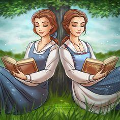Belle vs. Emma Watson [as Belle] (Cartoon Vs. Live Action by Daekazu @deviantART) #BeautyAndTheBeast