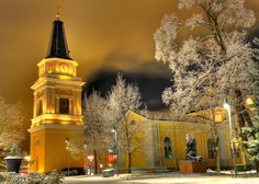 The Old Church of Tampere by Central Square. Central Square, Finland, Old Things, Urban, Mansions, Pearls, House Styles, City, Beautiful
