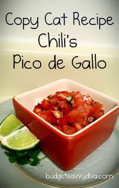 Copy Cat Recipe - Chili's Pico de Gallo