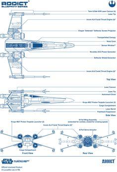 Addict X Star Wars X-Wing Blueprint
