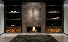 The Best Amazing Fireplace Tile Ideas for Your Living Room – Home living color wall treatment kitchen design Outdoor Fireplace Designs, Home Fireplace, Living Room With Fireplace, Fireplace Modern, Plafond Design, Leather Wall, Home And Living, Living Style, Living Room Designs