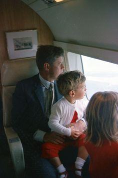 President John Kennedy and his son John Jr.