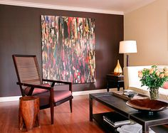 Applegate Tran Interiors Living Room, Wall, Projects, Paintings, Interiors, Spaces, Furniture, Color, Books