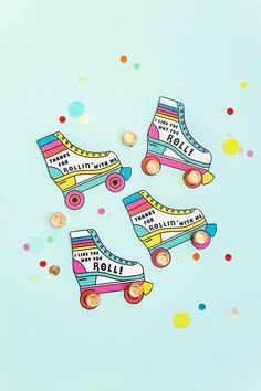 Give these printable roller skate valentines this Valentine's day. They are so simple and cute and sure to be a real hit this holiday. Valentine Day Cards, Valentines Diy, Surfboard Skateboard, Music Party, Valentine's Day Diy, Diy Arts And Crafts, Roller Skating, 2nd Birthday Parties, Print And Cut