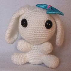 Crochet du Hamster: Un lapin blanc