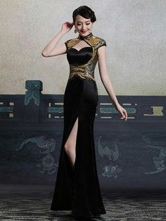 Ao Dai, Evening Dresses, Prom Dresses, Formal Dresses, Unique Fashion, Chinese Gown, Dress Outfits, Fashion Outfits, Frack