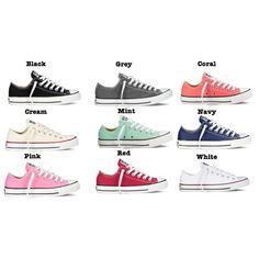 Monogrammed Converse Low Top Chuck Taylor Sneakers