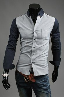 Men's Two Tone Gingham Shirt