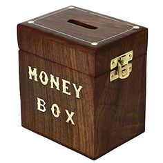Handcrafted Wooden Money Box Safe Piggy Bank For Girls Boys Adults 3X4X4.25 Inch ShalinIndia http://www.amazon.in/dp/B00L482HOY/ref=cm_sw_r_pi_dp_Gzyaub03WRXQ6