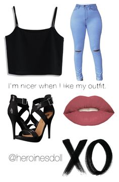 """NEW STYLE?"" by squeed on Polyvore featuring Chicwish, Michael Antonio, Smashbox and xO Design"