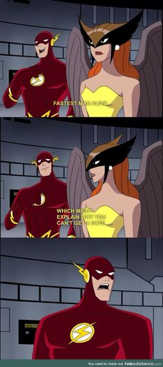 I was never a Justice League person but this is pretty funny! 22 Times The Justice League Proved Their Superpower Is Sass Gotham, Nananana Batman, Justice League Unlimited, Justice League Funny, Young Justice League, Simpsons, Cw Series, Hawkgirl, Fastest Man