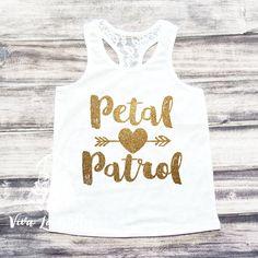 Petal Patrol Shirt Flower Girl Shirt Flower by ShopVivaLaGlitter