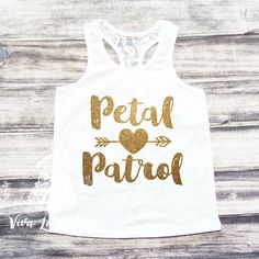 Petal Patrol Shirt Flower Girl Shirt Flower by ShopVivaLaGlitter
