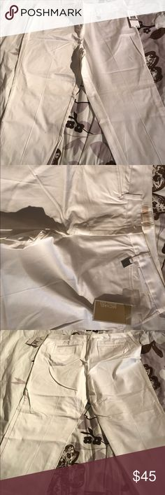Michael Kors White Crop Pants Brand new with tags Michael Kors White Crop Pants Size 12 MICHAEL Michael Kors Pants Ankle & Cropped