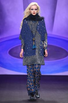 Anna Sui Love this outfit except for the hairy collar. Hope that's a removable scarf.