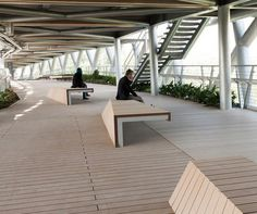 Benches on the Tabiat Pedestrian Bridge, Tehran. Click image for link to full profile and visit the slowottawa.ca boards >> https://www.pinterest.com/slowottawa/