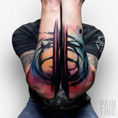 Colorful Abstract Arty Arms - tattooideas247.com/art-arms/