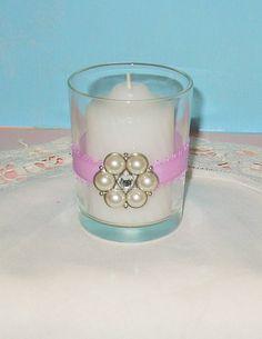 Votive Candle Holder / Spring Wedding by CarolesWeddingWhimsy, $24.99