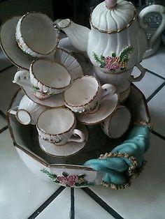 Tea Set Table Top Water Fountain Musical