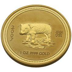 Moneda Ano Lunar del Cerdo 2007 Oro 1 oz