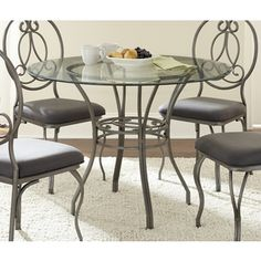 Captiva Glass Top Dining Table   Overstock.com Shopping - Great Deals on Dining Tables