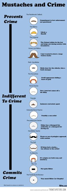 Mustaches and Crime !!!