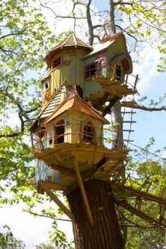 A fairy's treehouse. Is there a room for me?