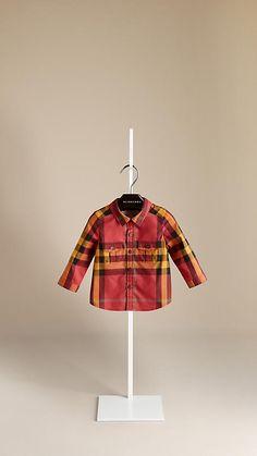 Camisa de checks en algodón | Burberry