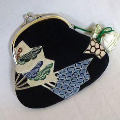 Vintage Tomesode KImono  Folding Fan  Frame Kisslock by kazuewest, $29.00
