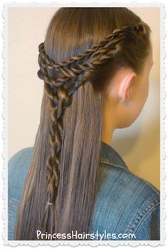 Cute hairstyle. The tangled twists tie back.