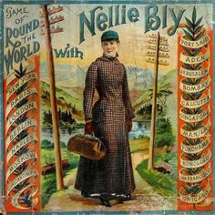 Antique Game Board and Cover, circa 1890. Around the World with Nellie Bly. This should be in a journalism museum.