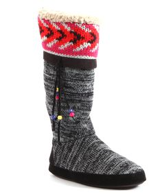 Black Marisa Slipper Boot - Women | Daily deals for moms, babies and kids