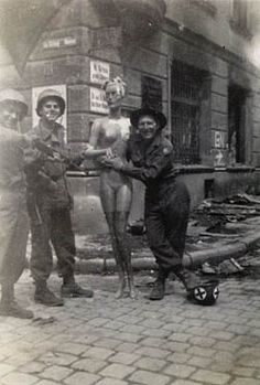 Infantry GIs With Mannequin In Passau Germany Philip Barnett US 65th Division