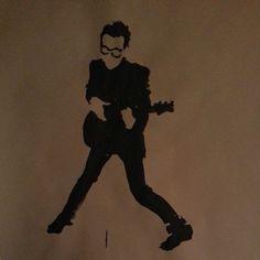 Elvis Costello ~ sharpie sketch by Pete Whitley
