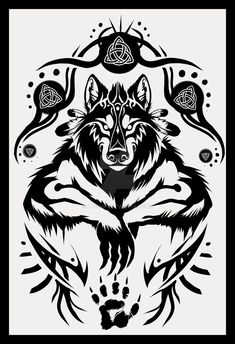 Shamanic Werewolf Tattoo Design by Anioue on DeviantArt