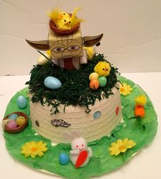 Easter Bonnet —  Star Wars. Yoda    (1907x2000) Star Wars, Birthday Cake, Easter, Desserts, Tailgate Desserts, Deserts, Birthday Cakes, Easter Activities, Postres