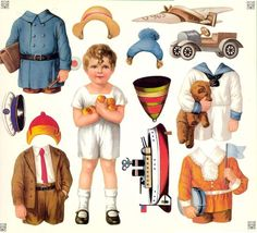 THESE ARE THE ONES! Patricia's Vintage Paper Dolls including several boys and girls and lots of clothes!