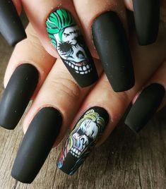 👻😈💅🕸🎃🎃 #halloween #halloweennails #halloweennailart #halloweennails2018 #mmynails #mmynailsandbeauty #mmy_nails #nailart #nailsoftheday #nailsofinstagram  #autumnnails #autumnnails2018 Nails 2018, Halloween Nail Art, Holiday Nails, Nail Ideas, Artworks, Finger, Nail Designs, Goth, Make Up